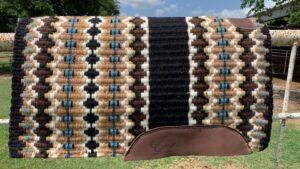 Branding Iron Saddle Blanket- Option 1