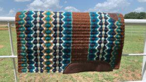 Branding Iron Saddle Blanket- Option 4